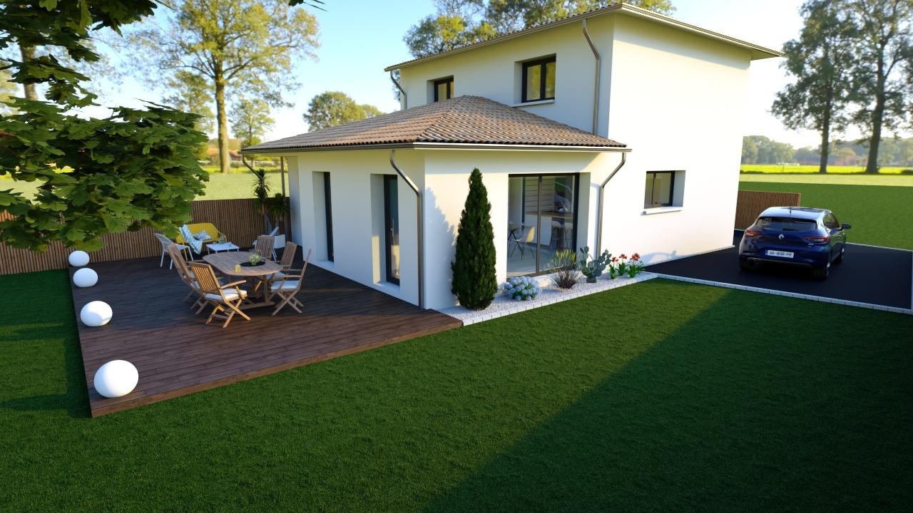 Maison et terrain constructible à Mios