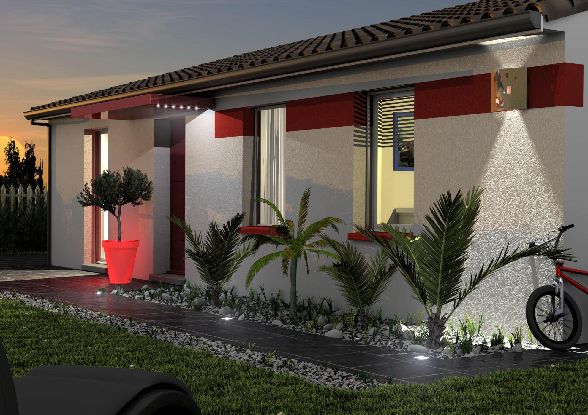 Maison et terrain constructible à Bas-Mauco