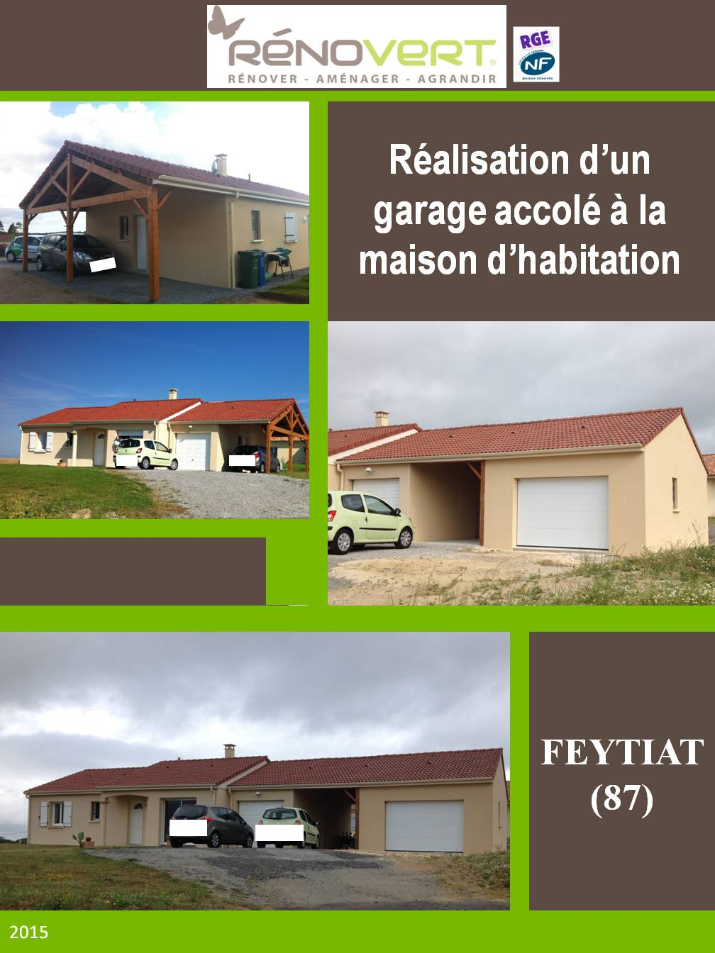 Garage Feytiat tout crÉation d'un garage accole a une maison existante pres de limoges