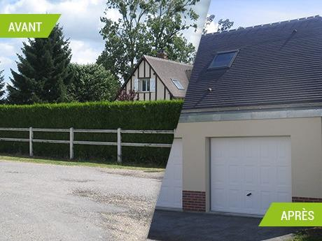 Création de deux garages en Seine-Maritime (76)