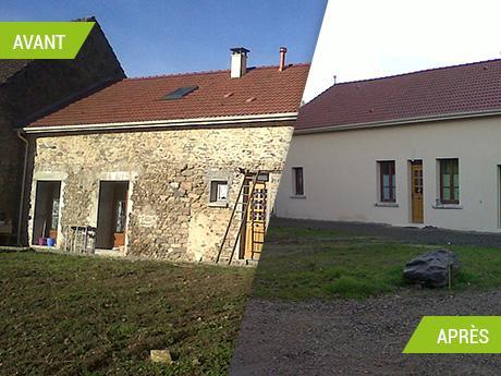 Rénovation d'une ferme et aménagement d'une grange à Guéret (23000)