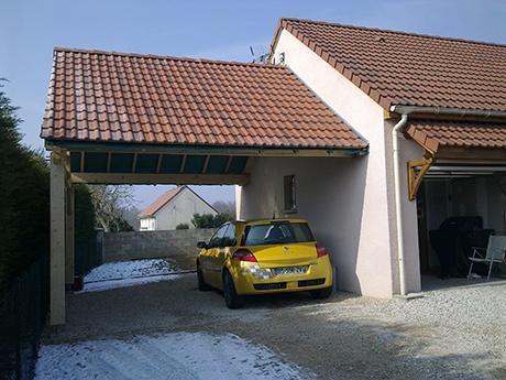 Construction d'un abri de voiture à Broin (21250)