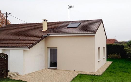 Réalisation d'une extension : création d'une extension d'une maison individuelle (21110)