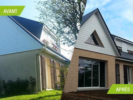 Extension d'habitation : Création d'un séjour avec mezzanine et sous-sol