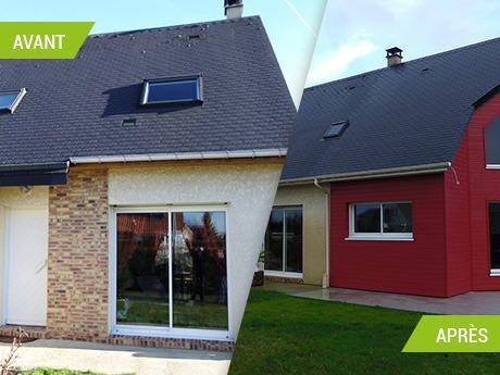 Extension sur deux niveaux : une suite parentale, cuisine, salon