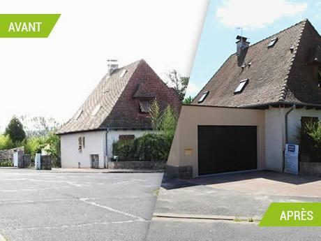 """Création d'un garage """"traversant"""" dans le Cantal (15)"""