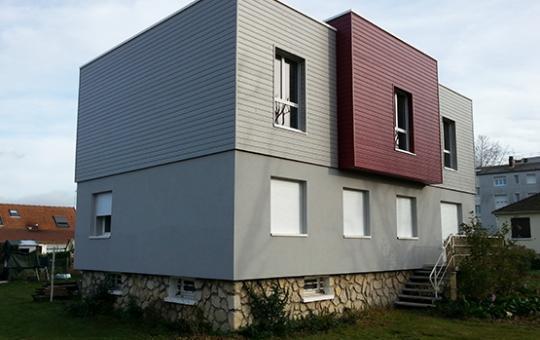 Création d'un étage et d'une isolation par l'extérieur en Seine-Maritime (76)