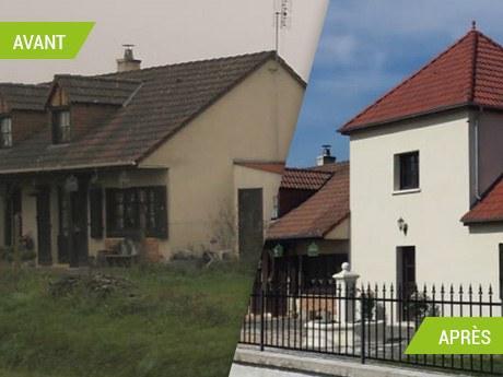 Extension d'une maison avec une tour à Neuillay-les-Bois (36500)