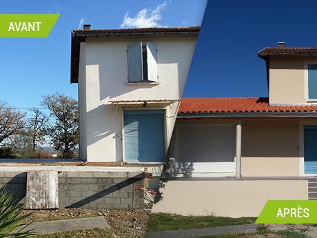 Extension d'habitation - rénovation de la partie existante