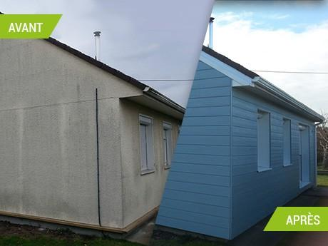 Isolation par l'exterieur d'une maison à St Etienne du Rouvray (76)