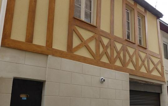 Réfection d'une façade à Rouen (76)