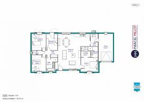 Plan MAISON DE PLAIN PIED - 110 M2 - CREUSE - FAMILY 6 AG