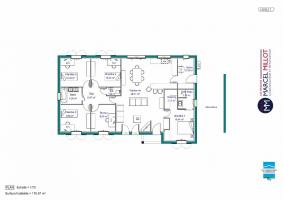 Plan MAISON DE PLAIN PIED - 120 M2 - CREUSE - FAMILY 7