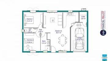 plan de maison 66m2