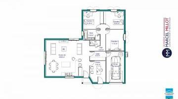 Plan MAISON DE PLAIN PIED - 108 M 2 - CREUSE - ACCORD 6
