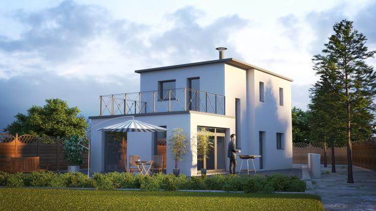 Conception modulaire vannes maison contemporaine maisons de l 39 avenir for Maison modulaire contemporaine