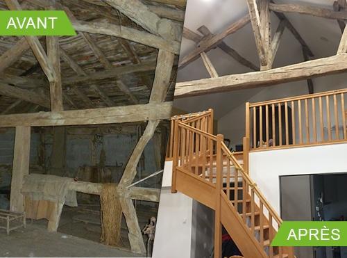 Rénovation d'une ferme Bressane.