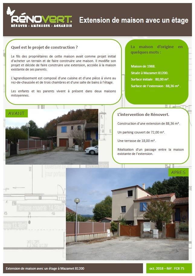 Renovert By Oc Residences Propose Une Extension Avec Un Etage A