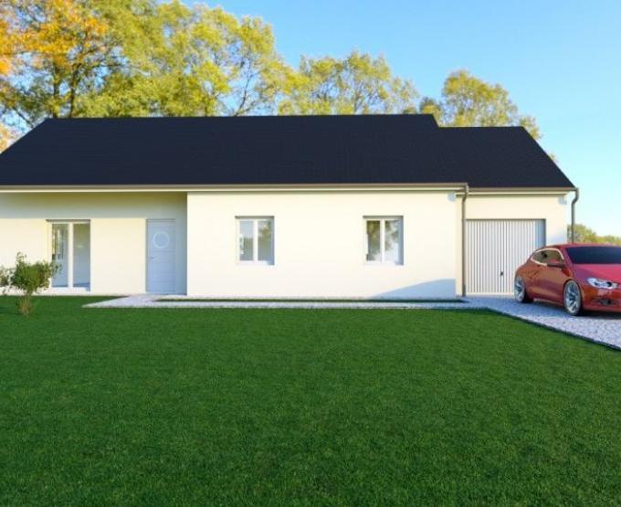 Vue BRIANCE - 35° - dpts 19/23 - maison de plain pied - forme rectangle