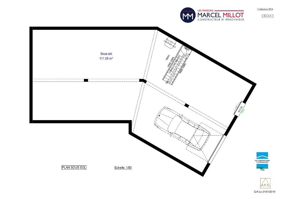 Vue ELLA 6 - 22° - dpts 87/46/24 - maison sur sous-sol