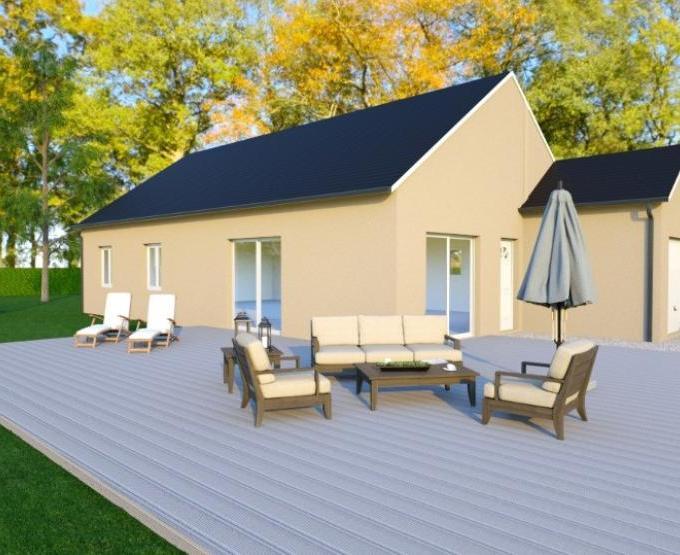 Vue EPSYLON - 35° - dpts 19/23 - maison de plain pied - forme rectangle