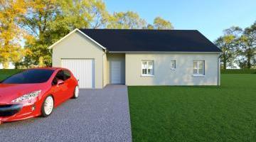 Vue VARIATION - 35° - dpts 19/23 - maison de plain pied - forme rectangle