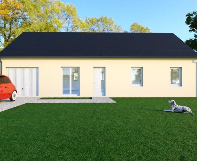 Vue WENGUE - 35° - dpts 19/23 - maison de plain pied - forme rectangle