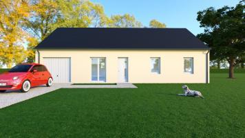 Vue WENGUE LOCATIF - 35° - dpts 19/23 - maison de plain pied - forme rectangle