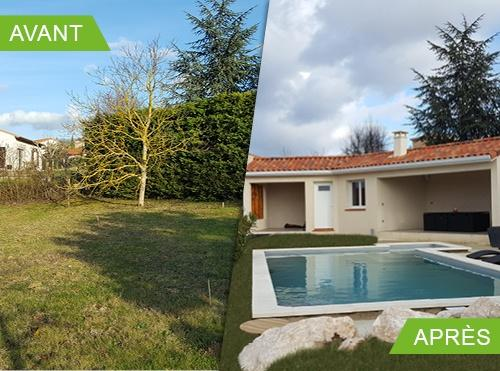 Construction d'une piscine et d'un carport à Lévignac 31530