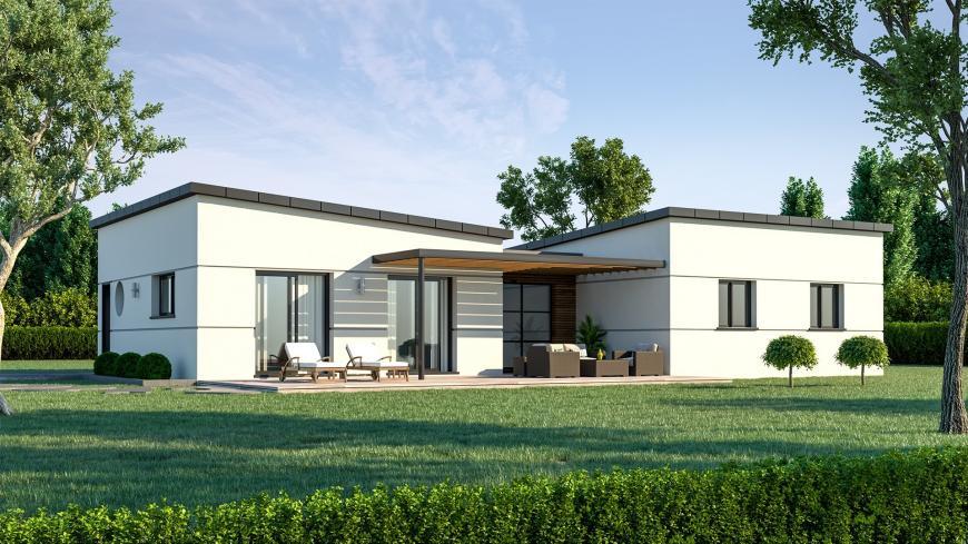 Plain-pied contemporain Maison contemporaine- Maisons de l ...