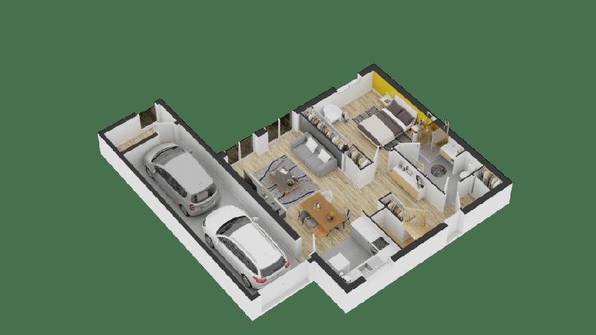 Maison moderne terrasse suspendue suite parentale constructeur de maison neuve bretagne