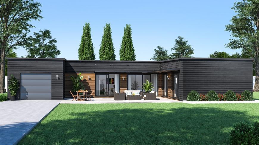 Maison design de plain-pied Maison contemporaine- Maisons de ...