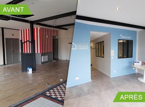 Rénovation et aménagement d'un local commercial à Bonchamp-lès-Laval (53960)